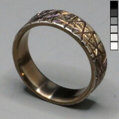 My hammered titanium ring, one year on