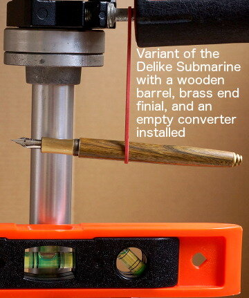 Balance of Delike Submarine pen with wood barrel and empty converter
