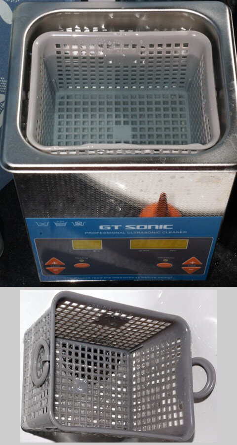 My ultrasonic cleaner and add-on basket