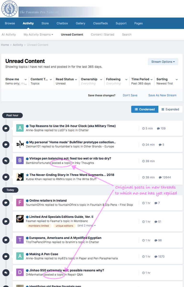 Single-post new threads in Unread Content
