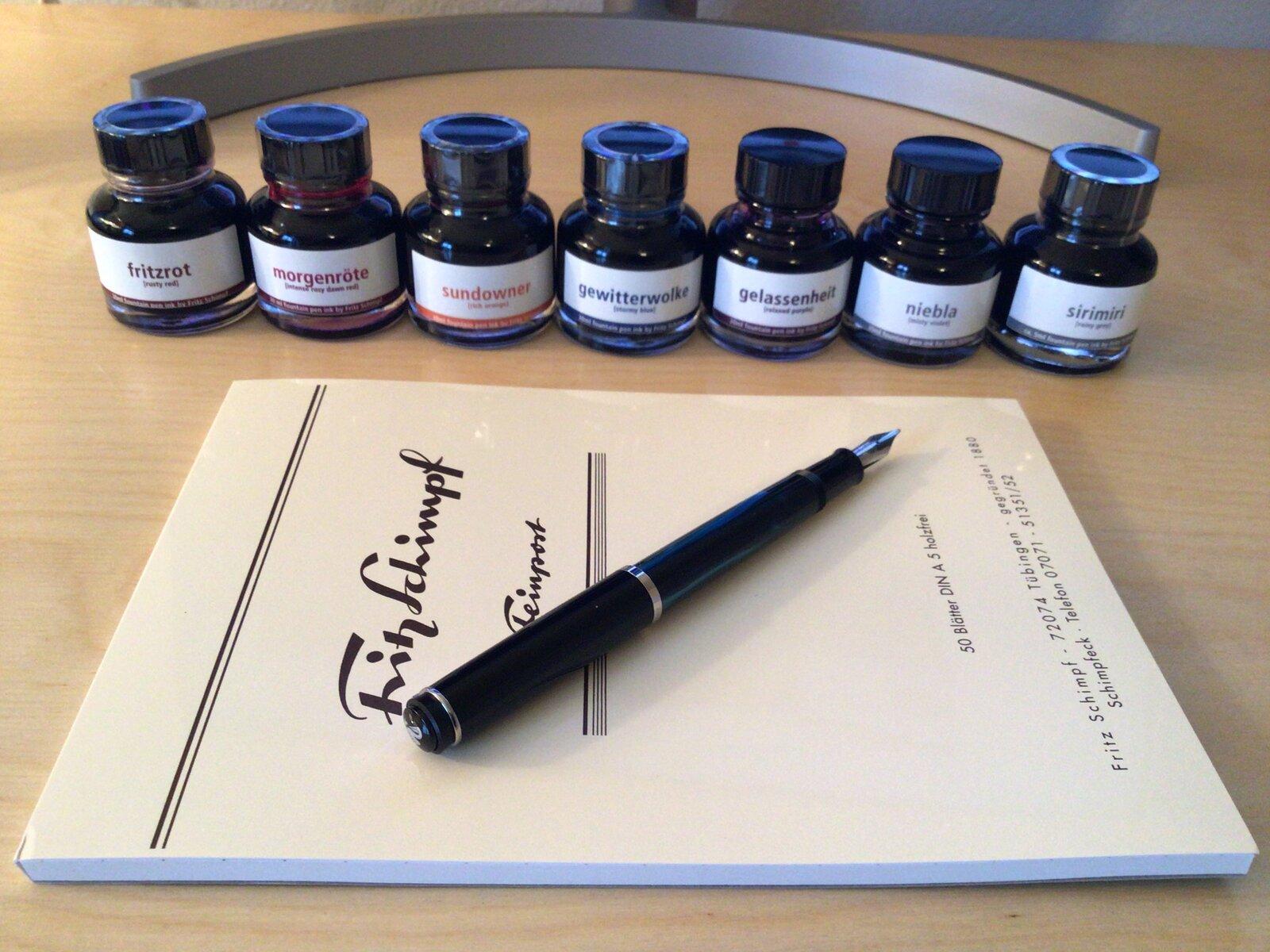 Fritz Schimpf pen, paper & inks