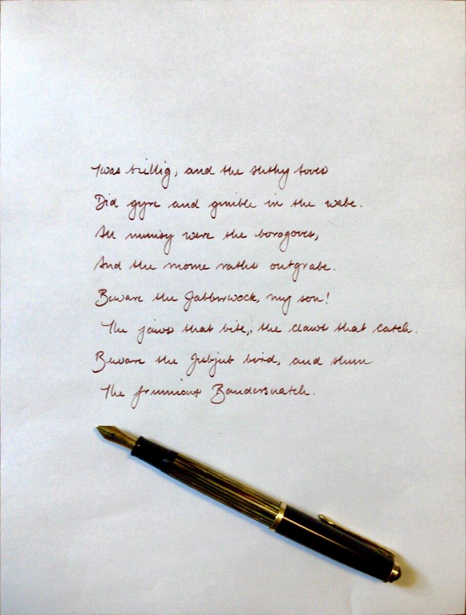 Pelikan 400NN OB writing sample