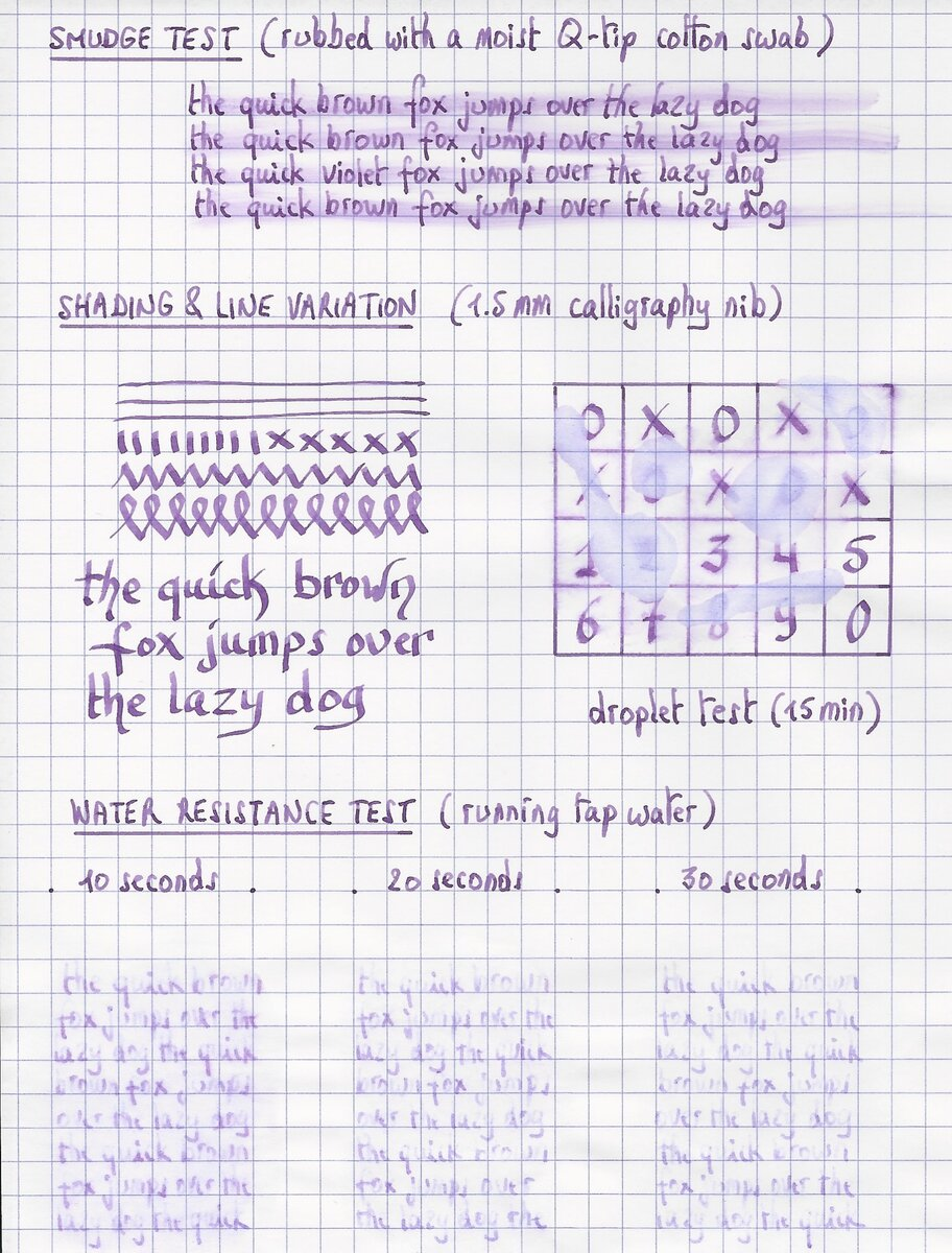 jacques herbin - violet boreal - water test.jpg