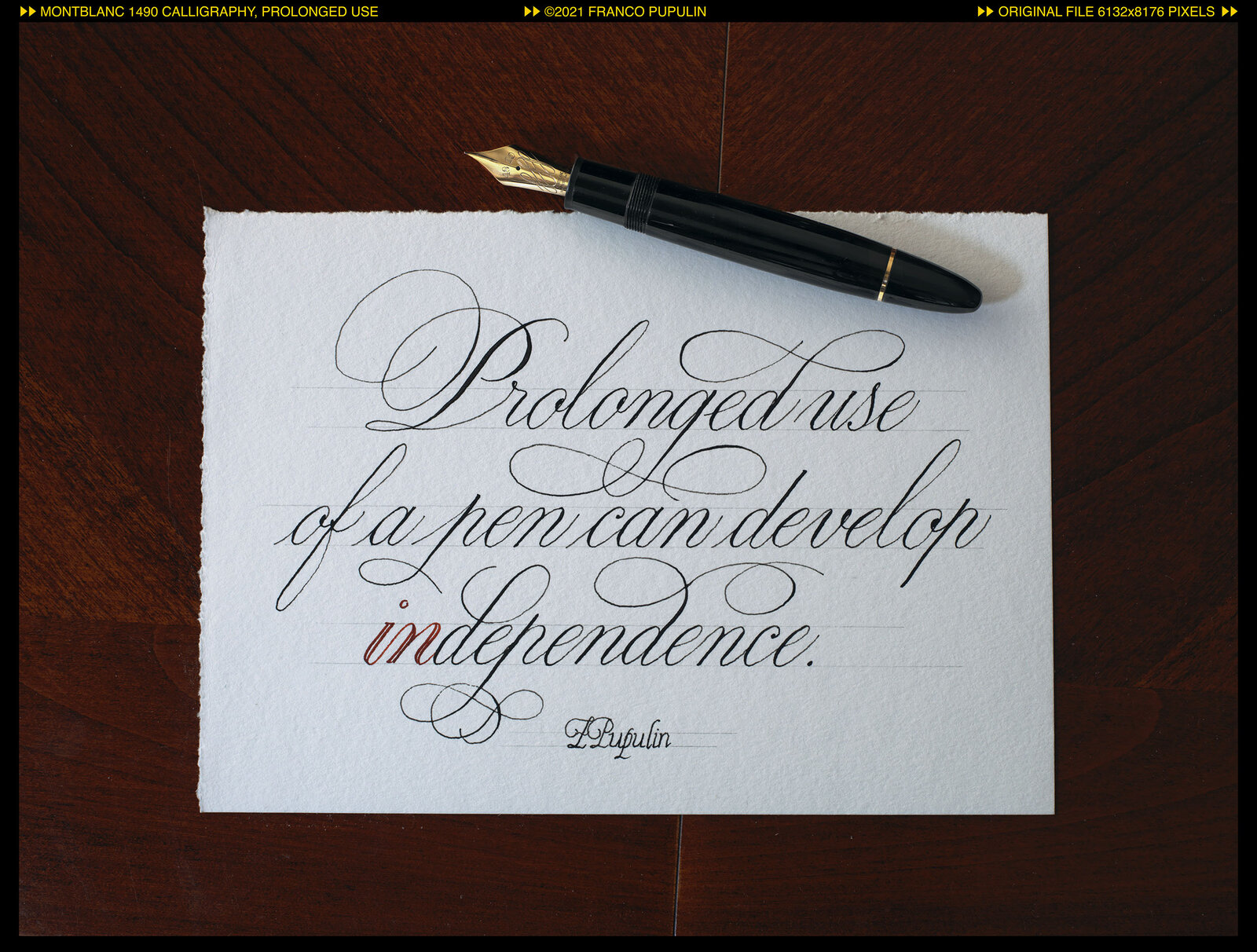 Montblanc 149 Calligraphy, Prologed use.jpg