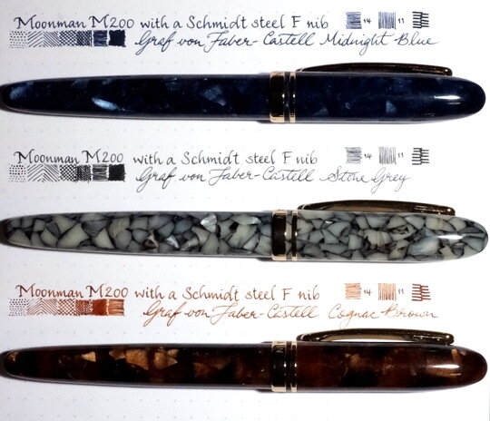 Ink colour-matching my Moonman M200 pens