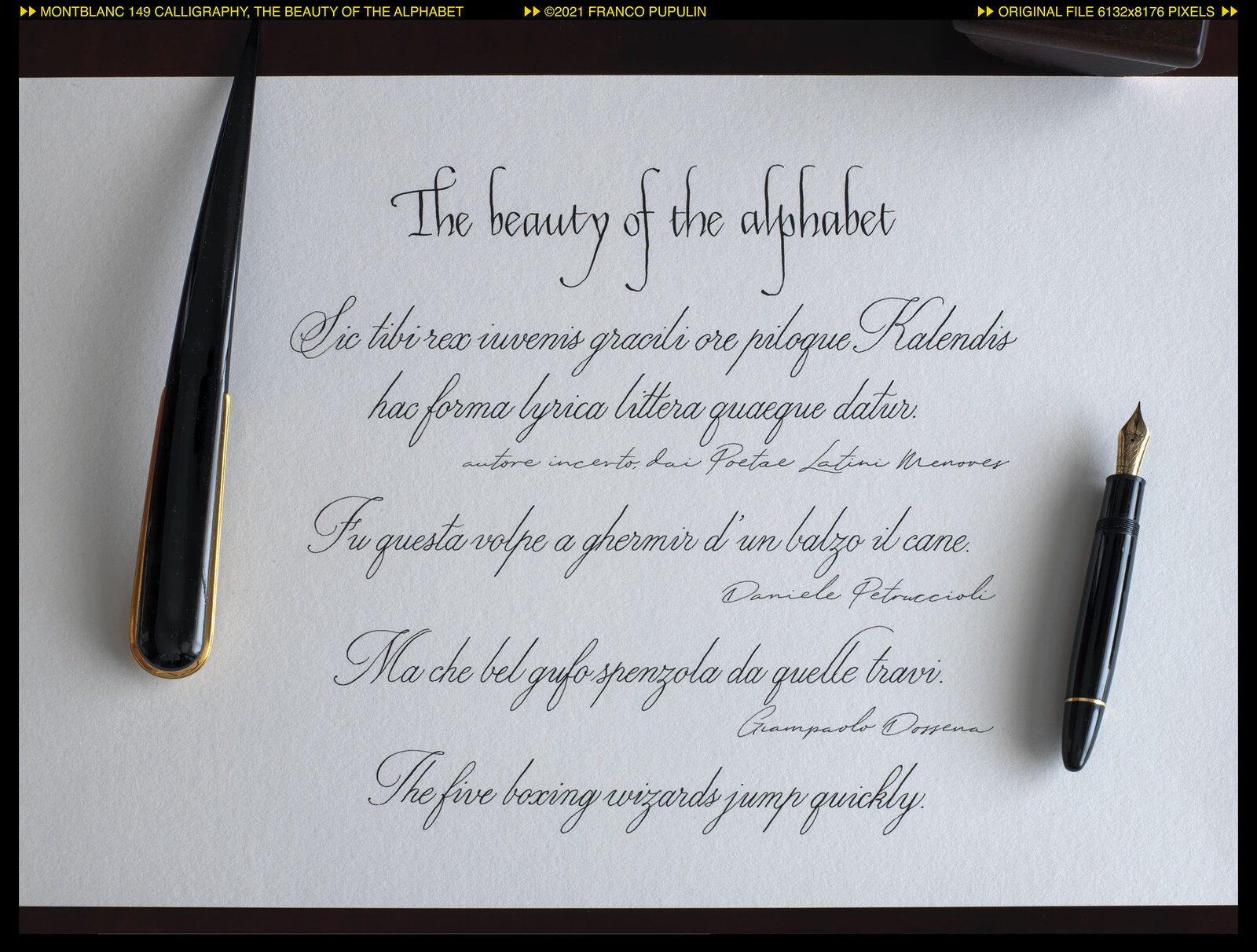 Montblanc 149 Calligraphy, The beauty of the alphabet (2) ©FP.jpg