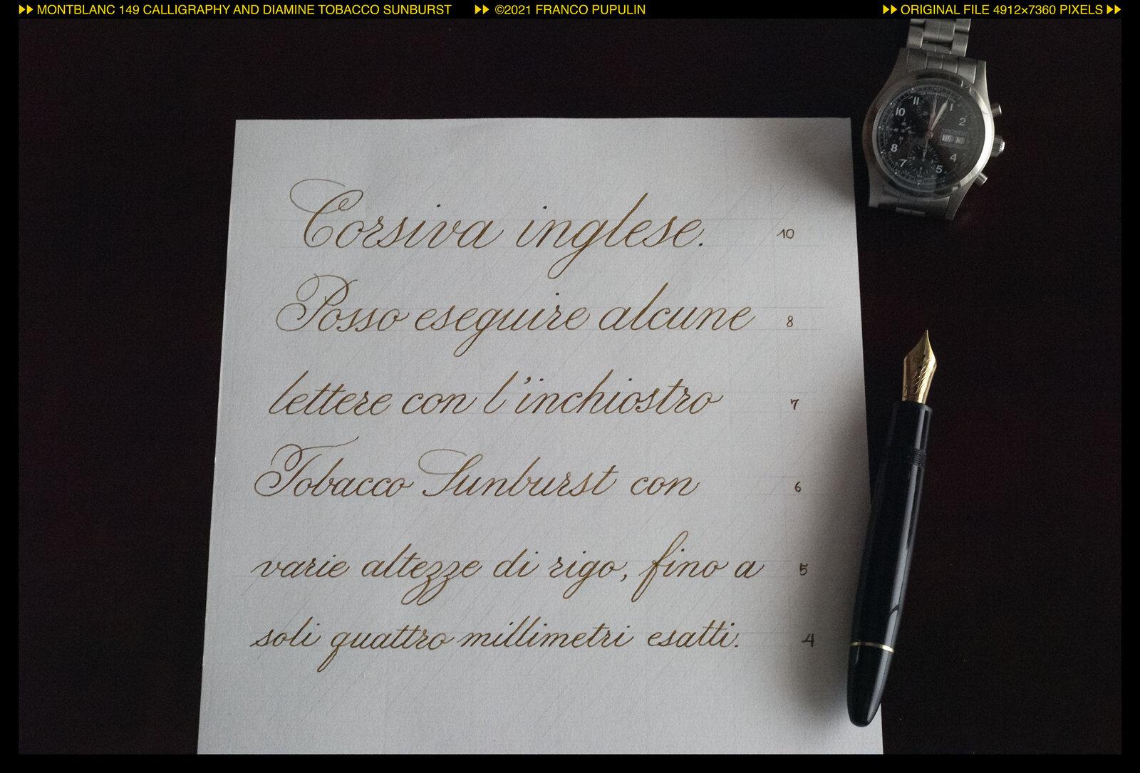 Montblanc 149 Calligraphy and Tobacco Sunburst ©FP.jpg