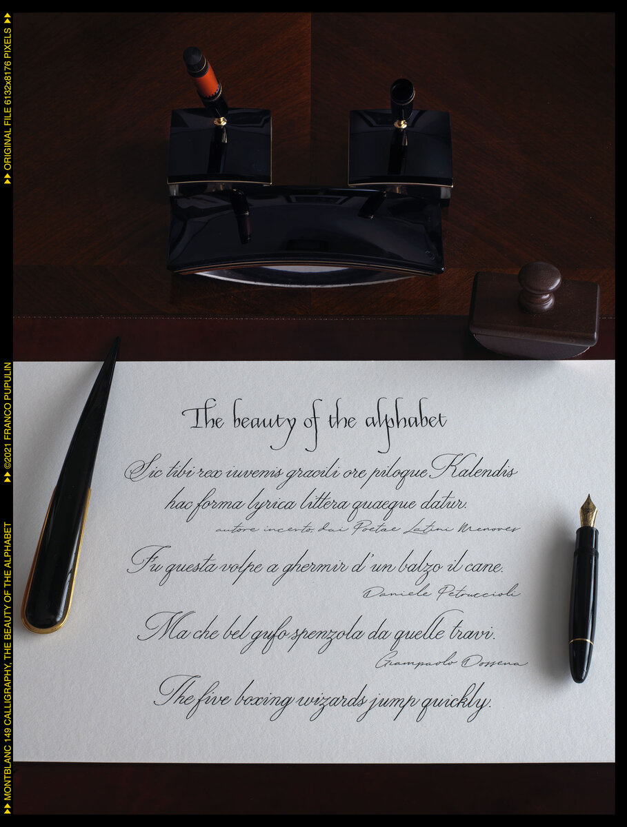 Montblanc 149 Calligraphy, The beauty of the alphabet (1) ©FP.jpg