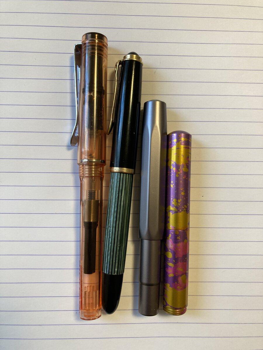 Pocket Six size comparison - capped
