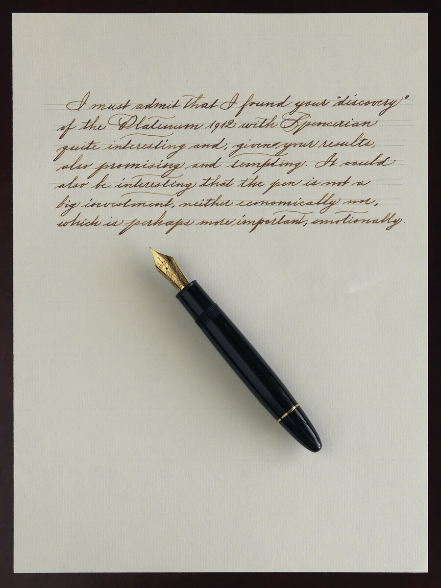 Montblanc 149 Calligraphy, Spencerian thougths.jpg