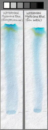 Waterman Mysterious Blue ink