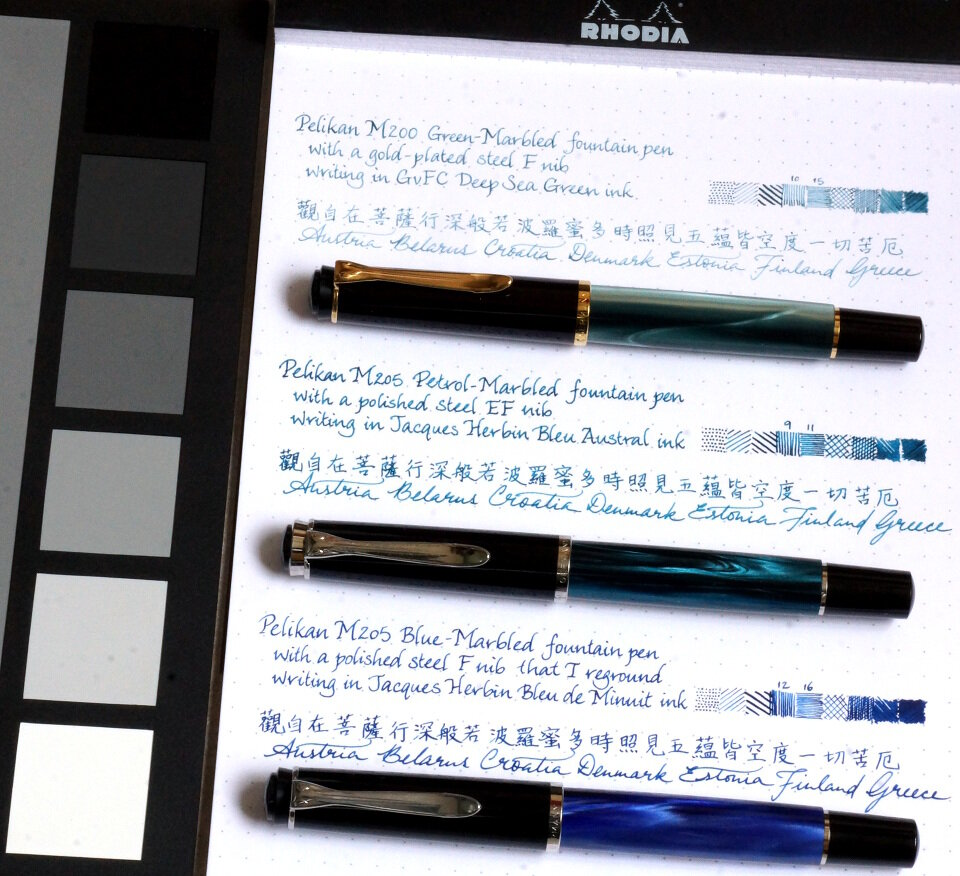 Matching inks to Pelikan Classic M20x pens