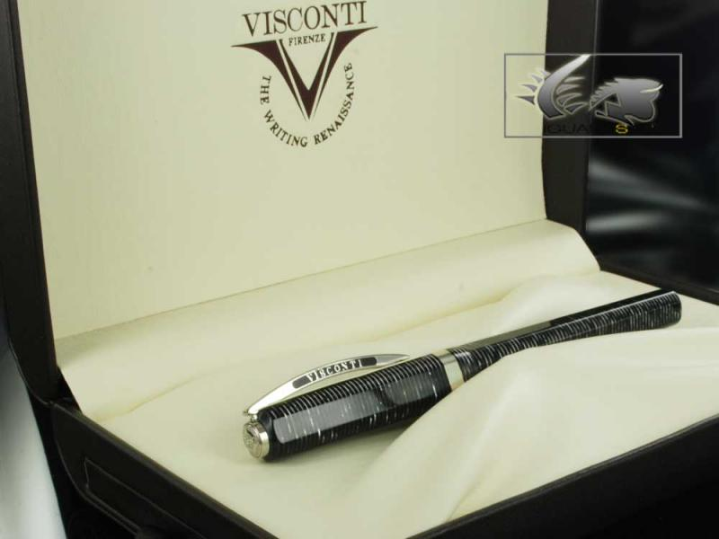 Attached Image: Visconti-Fountain-Pen-Wall-Street-Grey-Celluloid-Palladium-nib-38112-81.jpg