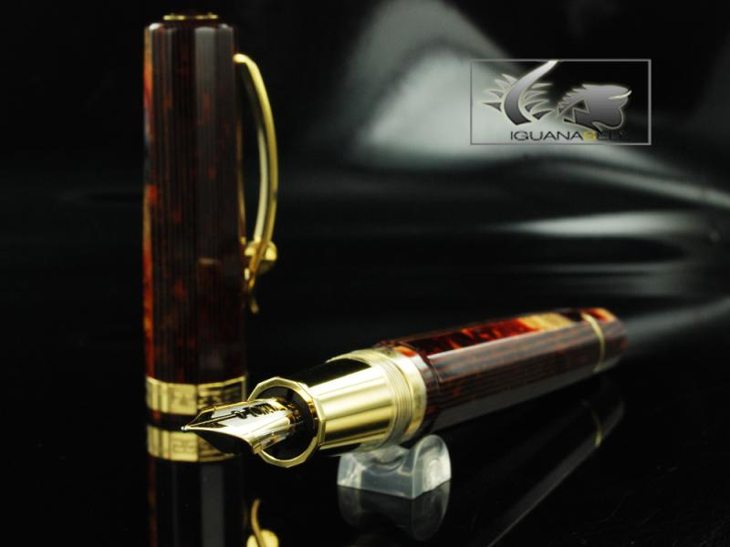 Attached Image: Omas-Fountain-Pen-Paragon-Arco-Brown-Celluloid-and-Gold-Trim-O02A0049-O02A00049-11.jpg