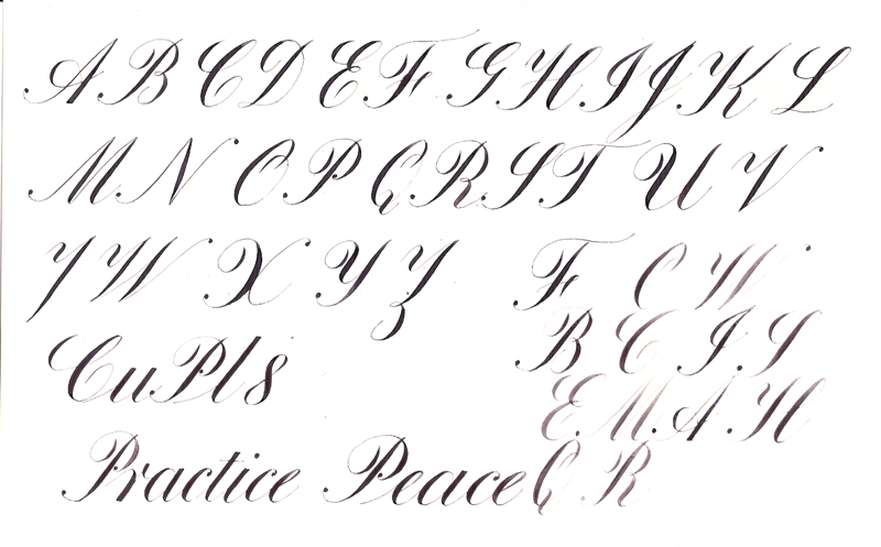 photograph relating to Copperplate Calligraphy Alphabet Printable named Mastering Copperplate - Web page 18 - Pointed Pen Calligraphy