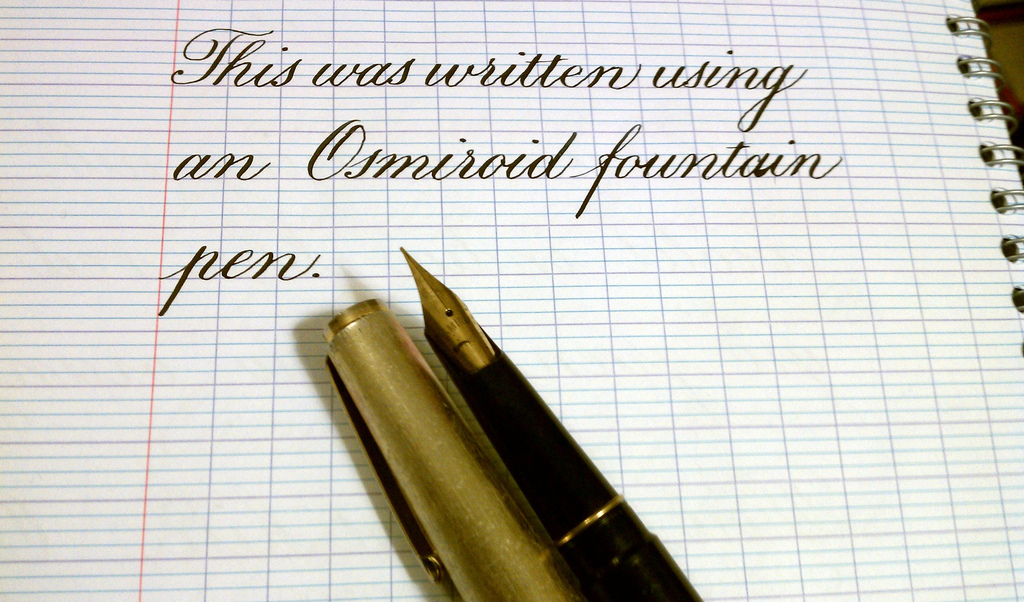 Copperplate with a fountain pen page 3 calligraphy Ballpoint pen calligraphy