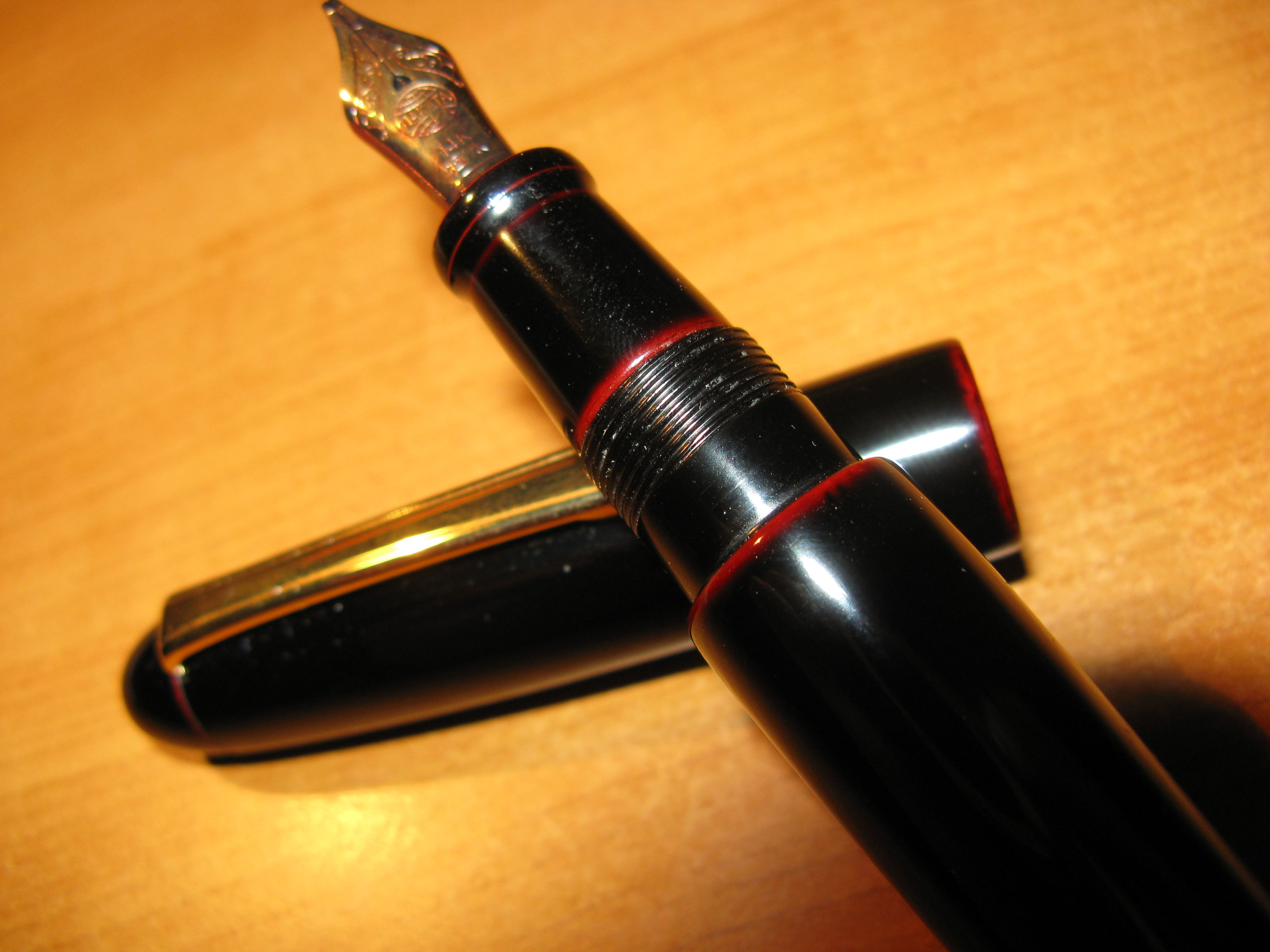 Nakaya Kuro Tamenuri Portable Writer Fountain Pen
