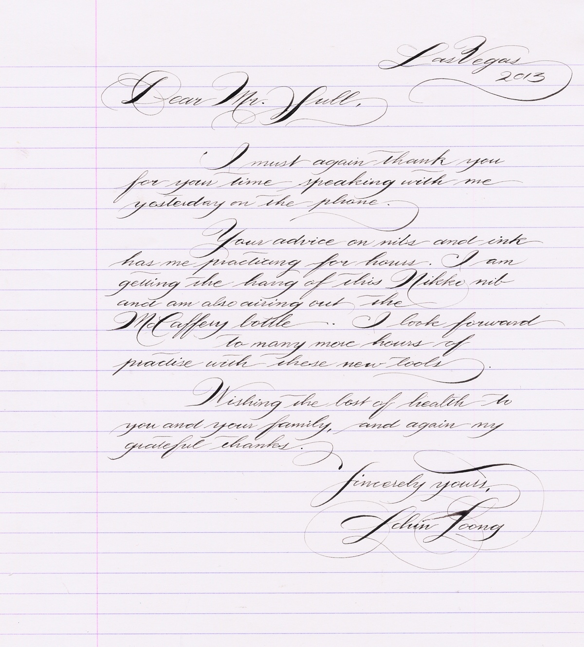 Learning Spencerian Page 8 Pointed Pen Calligraphy