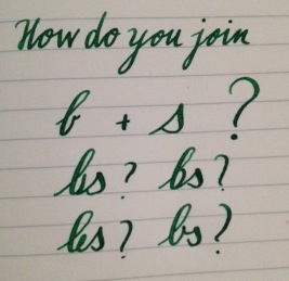 how to join b and s in cursive roundhand calligraphy discussions