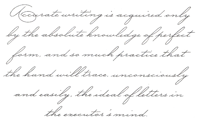 A Little Spencerian Pointed Pen Calligraphy The