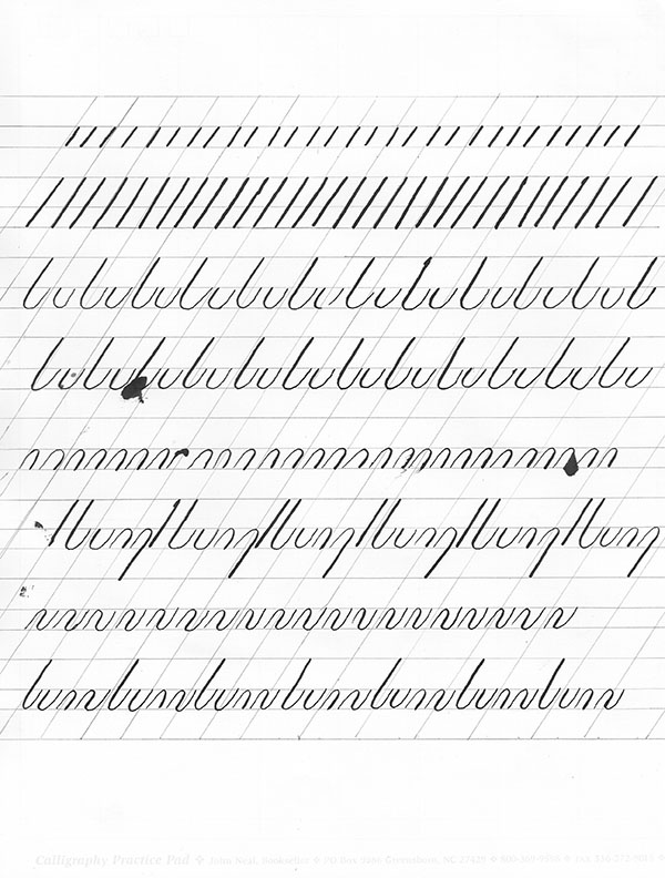 learning copperplate pointed pen calligraphy the fountain pen
