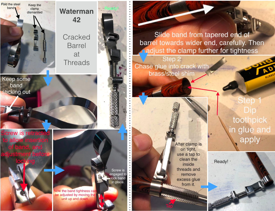 Using Band Clamps For Cracks - Repair Q&A - The Fountain Pen Network