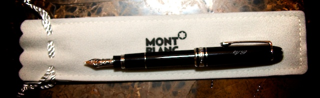 Details & Size. This Montblanc Rollerball pen has been engraved ...