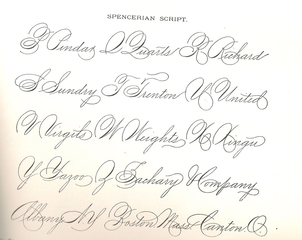 Spencerian Cursive Alphabet Images Reverse Search