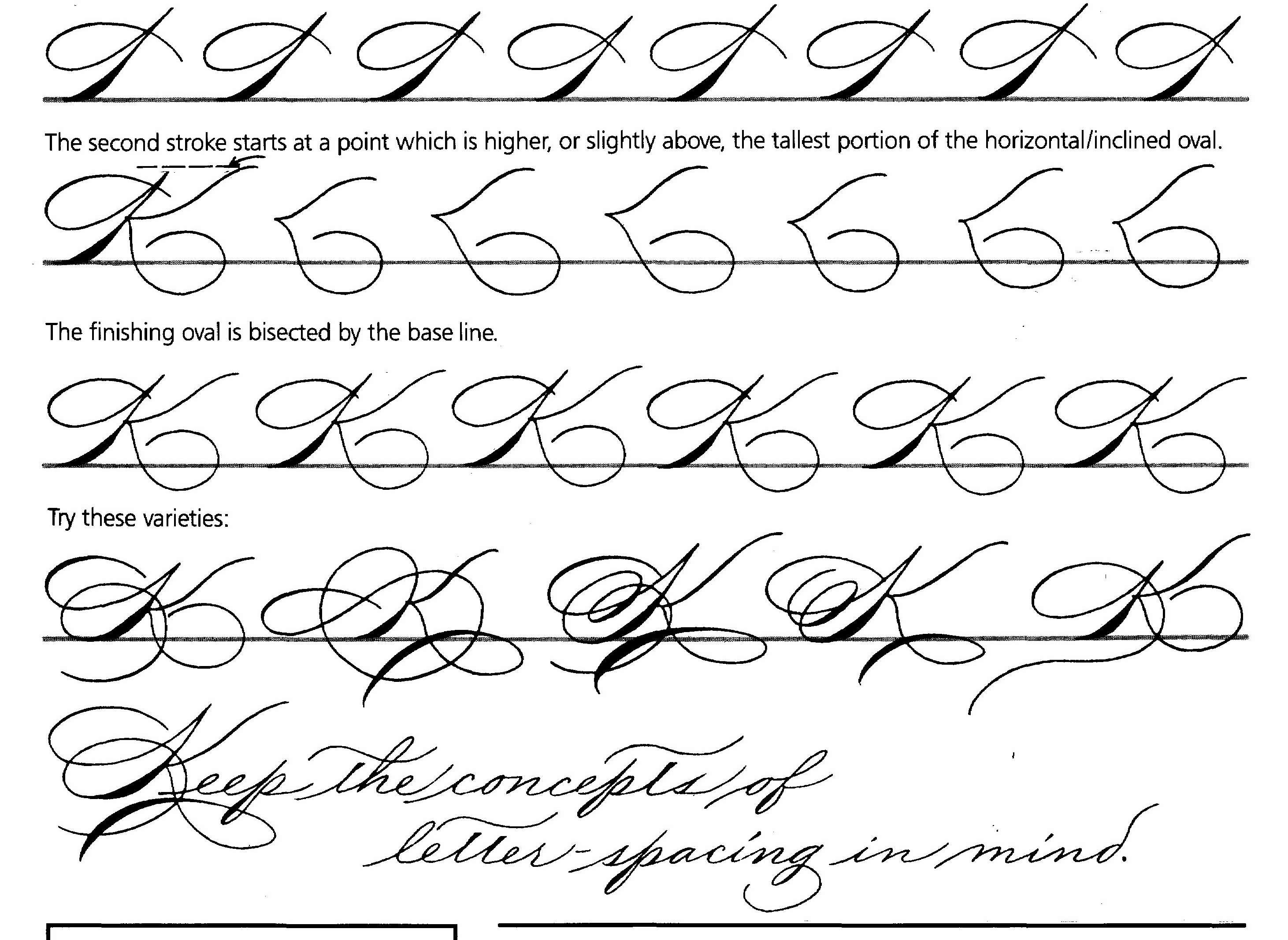 Spencerian Script Practice Sheets The