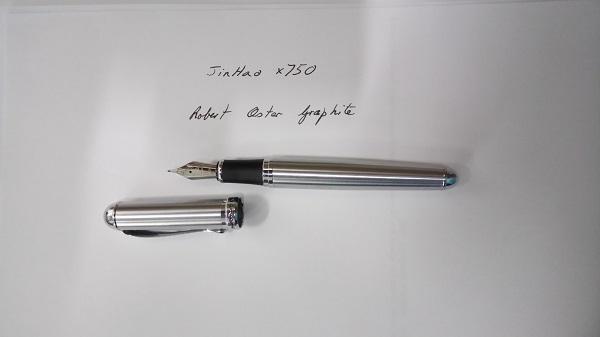 HERO No 448 Lacquered Black Extra Fine Fountain Pen with Chrome Trim