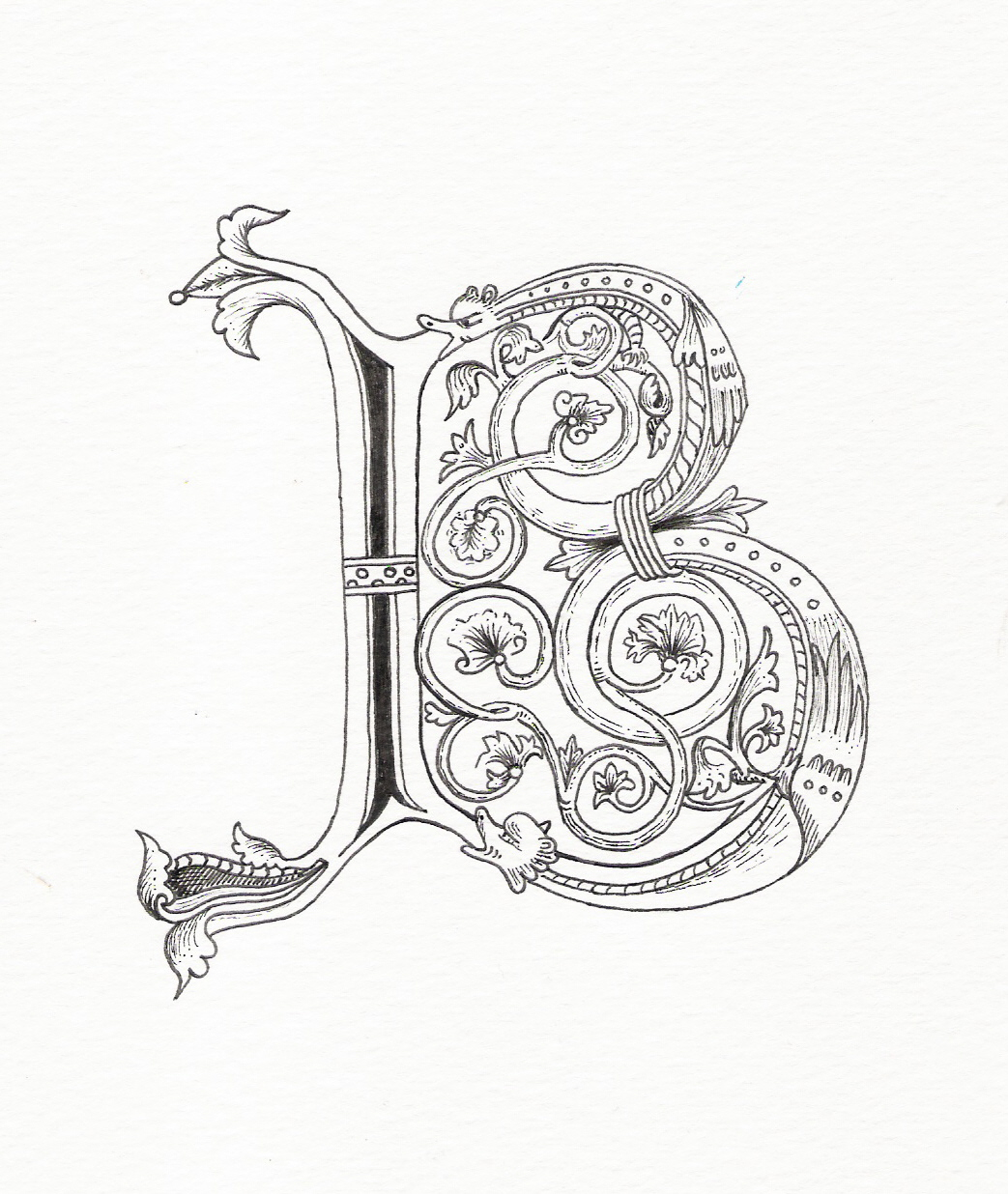 Pin Illuminated Letters Templates Medieval Pictures on Pinterest