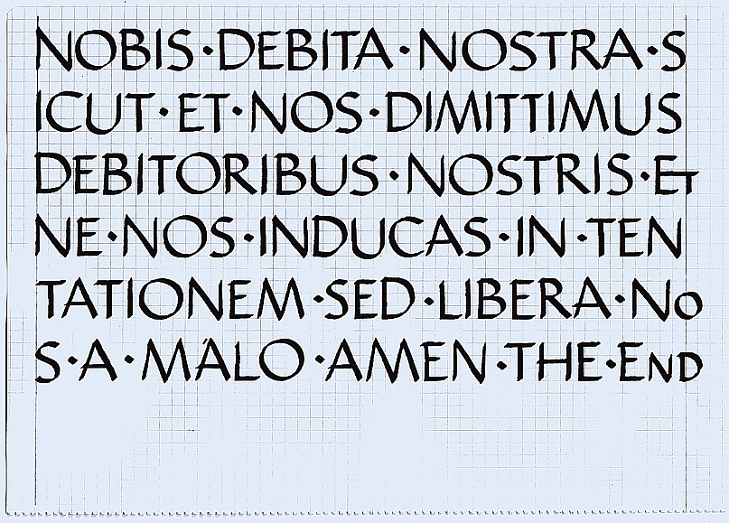 Advices needed in roman capitals - Calligraphy Discussions