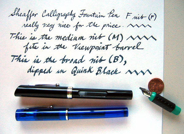 Sheaffer Classic Calligraphy New Fountain Pen Reviews