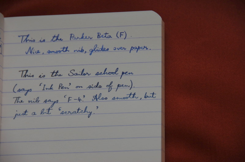 Parker Beta Review Fountain Pen Reviews The Fountain
