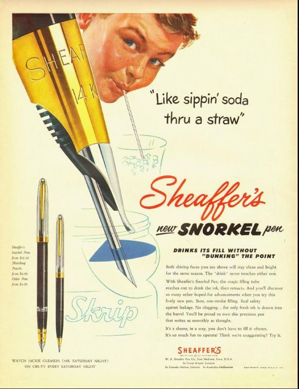 Sheaffer snorkle ad 1952.jpg