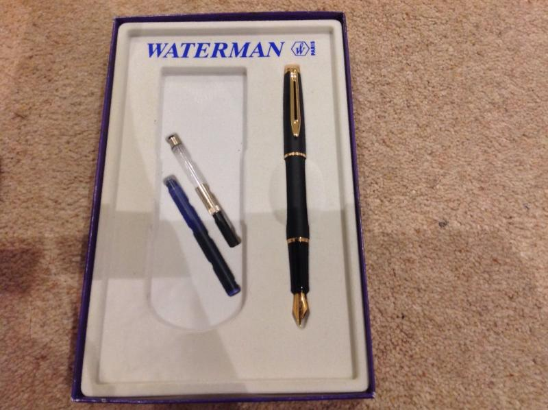 waterman fountain pen identification