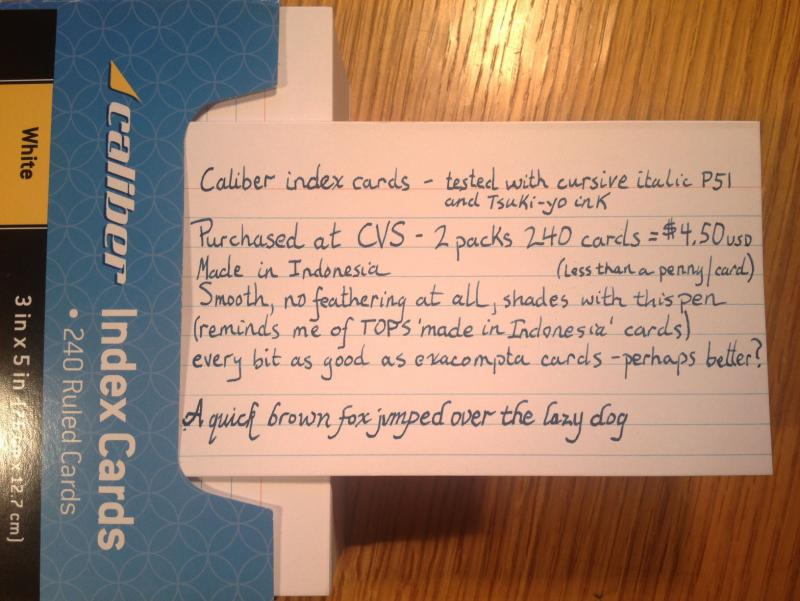 cvs caliber index cards paper pen paraphernalia reviews and