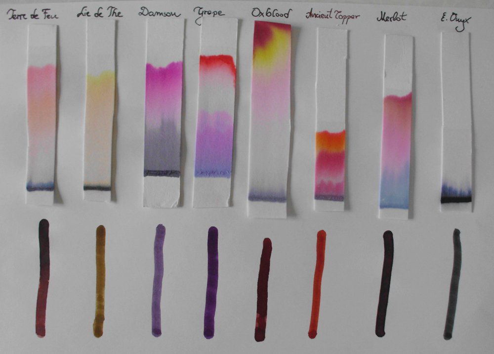 the separation of ink chromatography d The write stuff: using paper chromatography to separate an ink mixture the word chromatography comes from two greek words meaning color and to write.