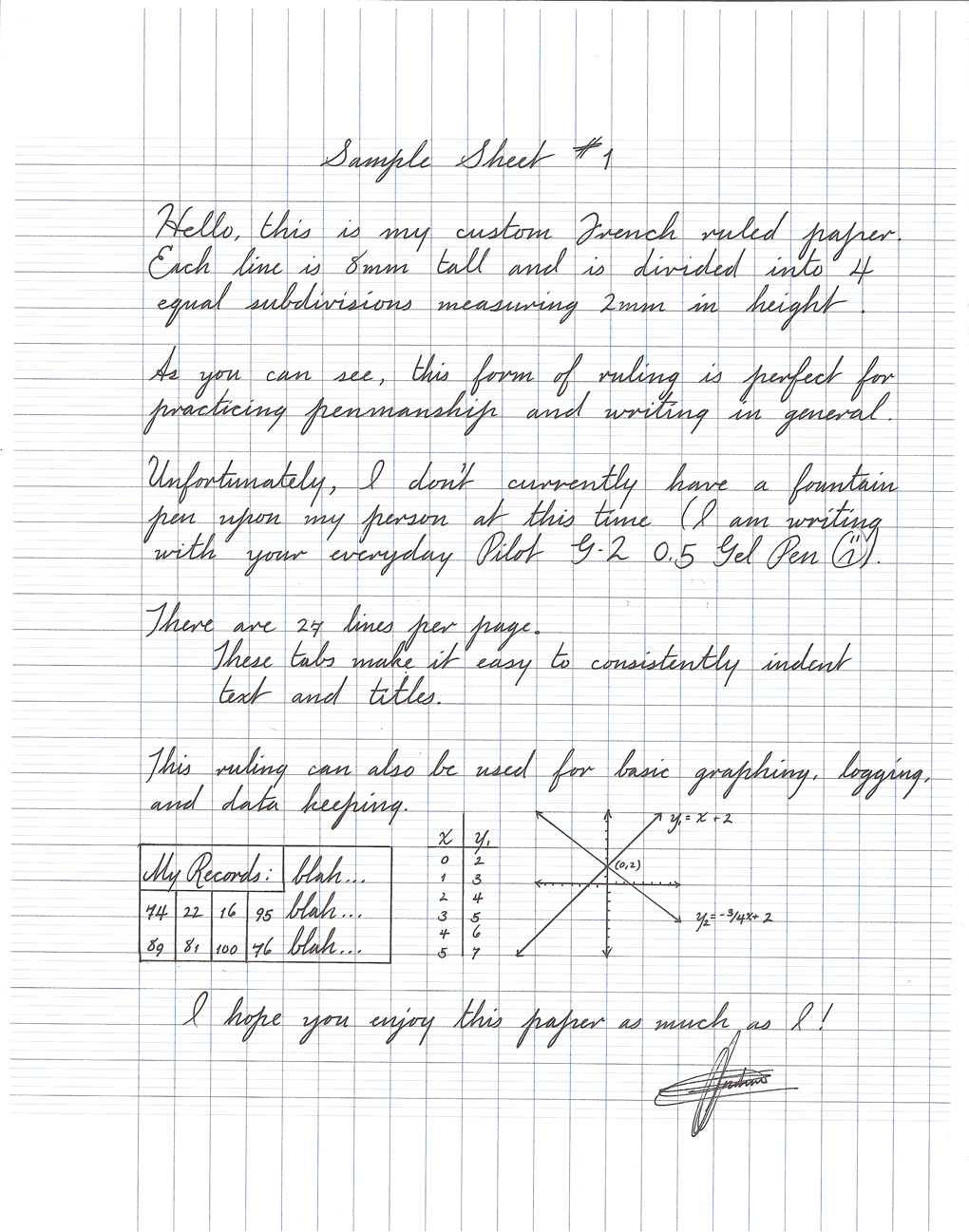 S y s French Ruled Paper Template Paper and Pen Paraphernalia – Printable College Ruled Paper